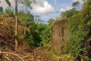 Di sinilah salah satu lokasi yang seharusnya dibangun jembatan oleh pemerintah sejak sebelum penempatan warga SP II Nangakara, 2010 lalu. Tapi sampai sekarang (November 2016), sudah sekitar enam tahun, para transmigran di sana dibiarkan sengsara. (foto sarwon/lakeynews.com)